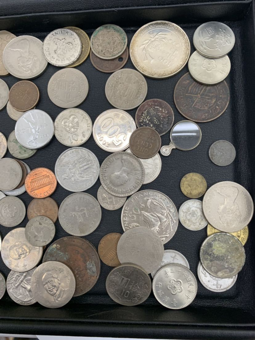 G 1円スタート 外国硬貨 未選別 大量おまとめ 外国銭 外国切手 セット アンティーク コレクション_画像3