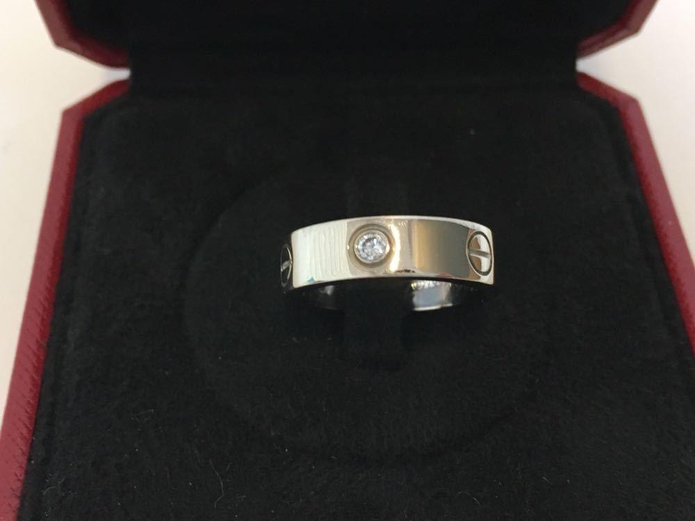 正規品美品Cartier カルティエ ラブリング 3Pダイヤ 750 9.4g ホワイトゴールド 売り切り 本物_画像3
