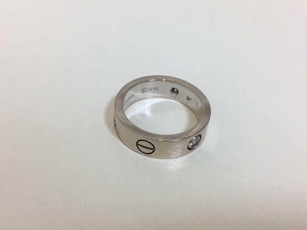 正規品美品Cartier カルティエ ラブリング 3Pダイヤ 750 9.4g ホワイトゴールド 売り切り 本物_画像5