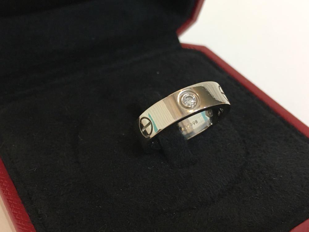 正規品美品Cartier カルティエ ラブリング 3Pダイヤ 750 9.4g ホワイトゴールド 売り切り 本物_画像2