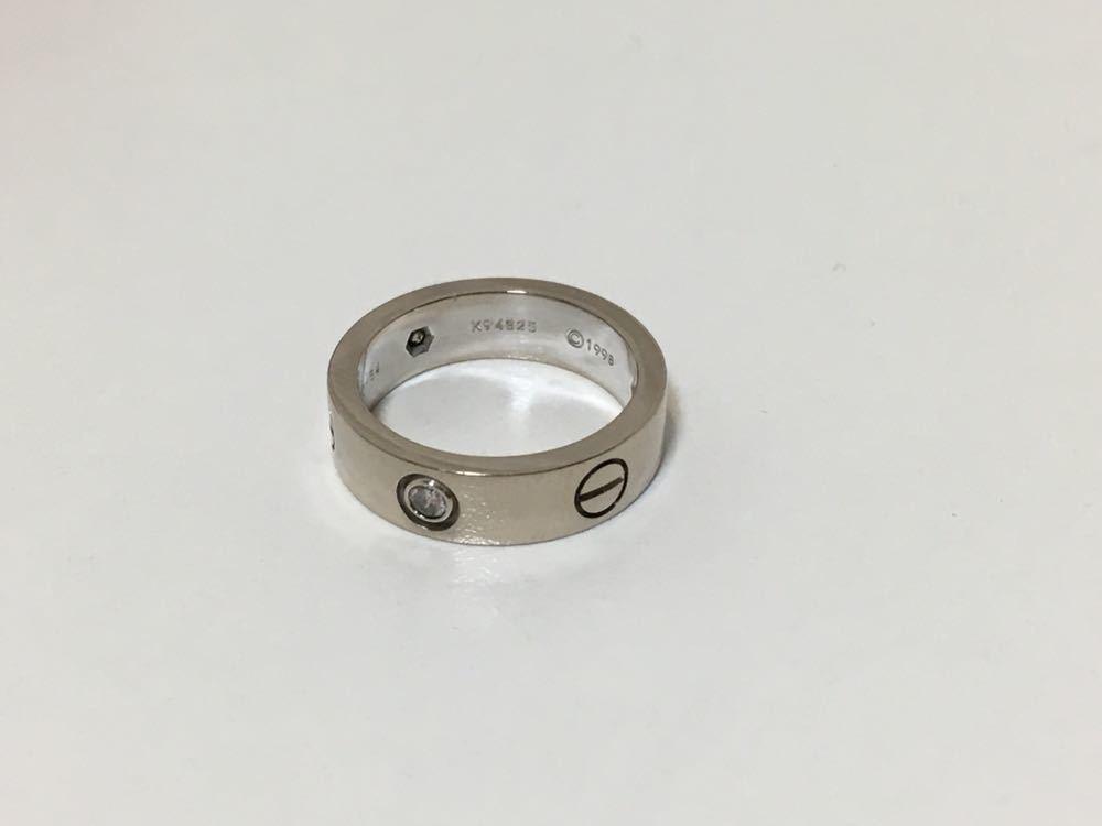 正規品美品Cartier カルティエ ラブリング 3Pダイヤ 750 9.4g ホワイトゴールド 売り切り 本物_画像7