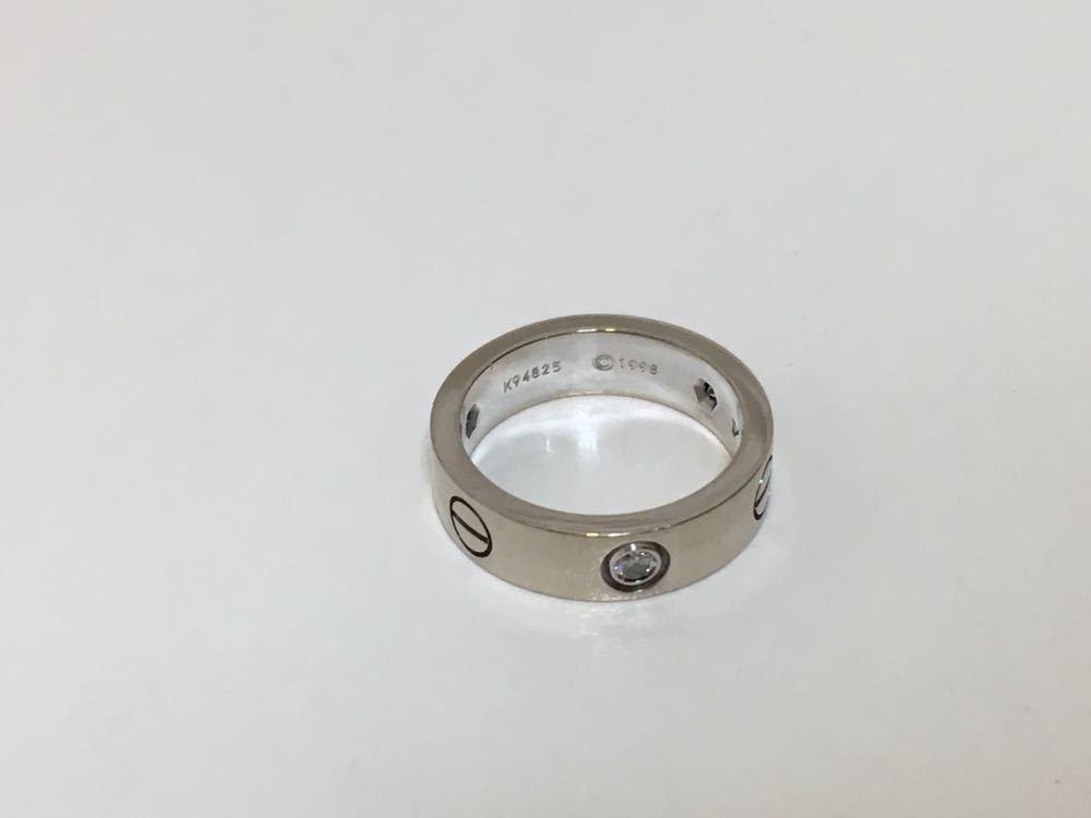 正規品美品Cartier カルティエ ラブリング 3Pダイヤ 750 9.4g ホワイトゴールド 売り切り 本物_画像6