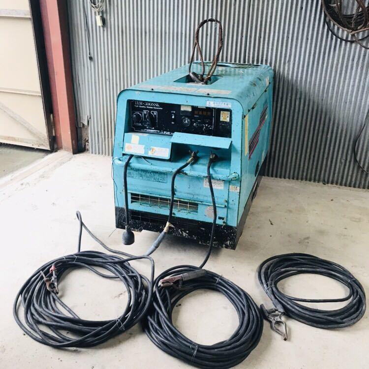 防音型エンジン溶接・発電機 デンヨー Denyo TLW-300SSK 建設 現場 電源 ディーゼル 三相
