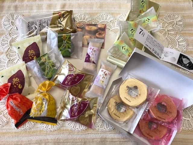 ●熊本菓房のお菓子各種・お菓子の香梅 夕涼みゼリー、バウムクーヘン他●23点