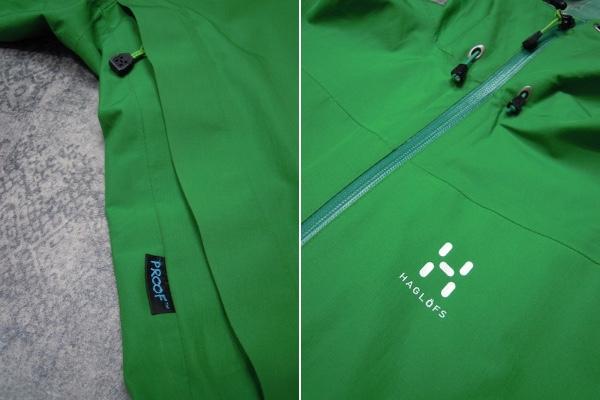 Haglofs BARA JACKET●メンズSサイズ(実寸M程度)/グリーン/緑/バラジャケット/防水マウンテンパーカー/ホグロフス/アウトドア/登山_画像5