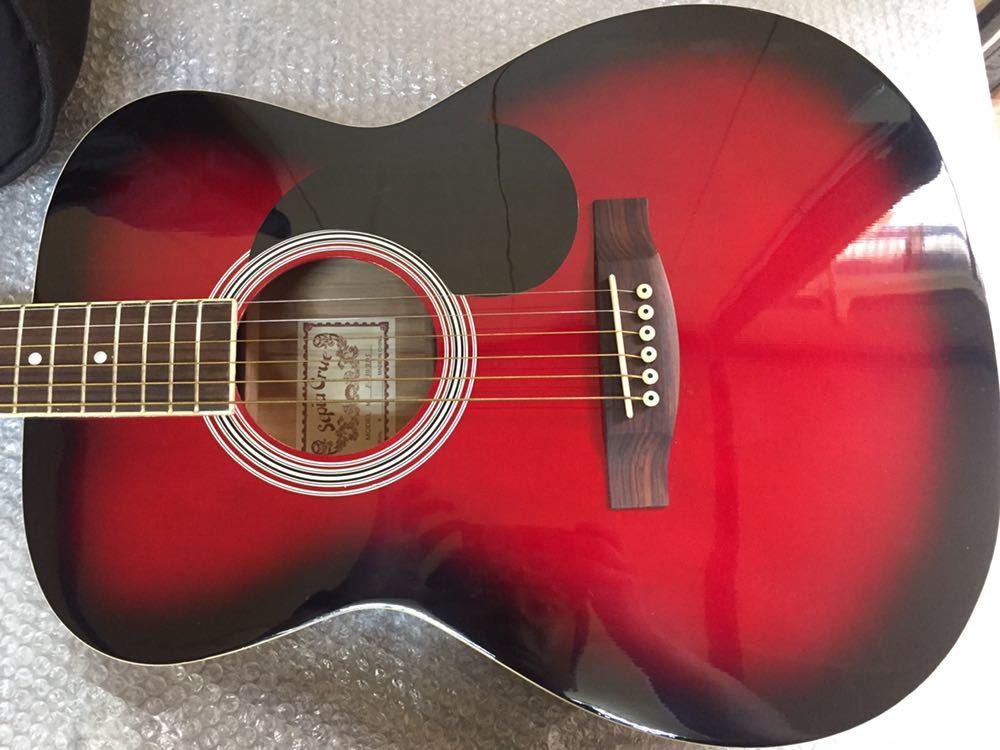 ◯ 美品 アコースティックギター Sepia Crue セピアクルー F-130/RDS ケース付き_画像3