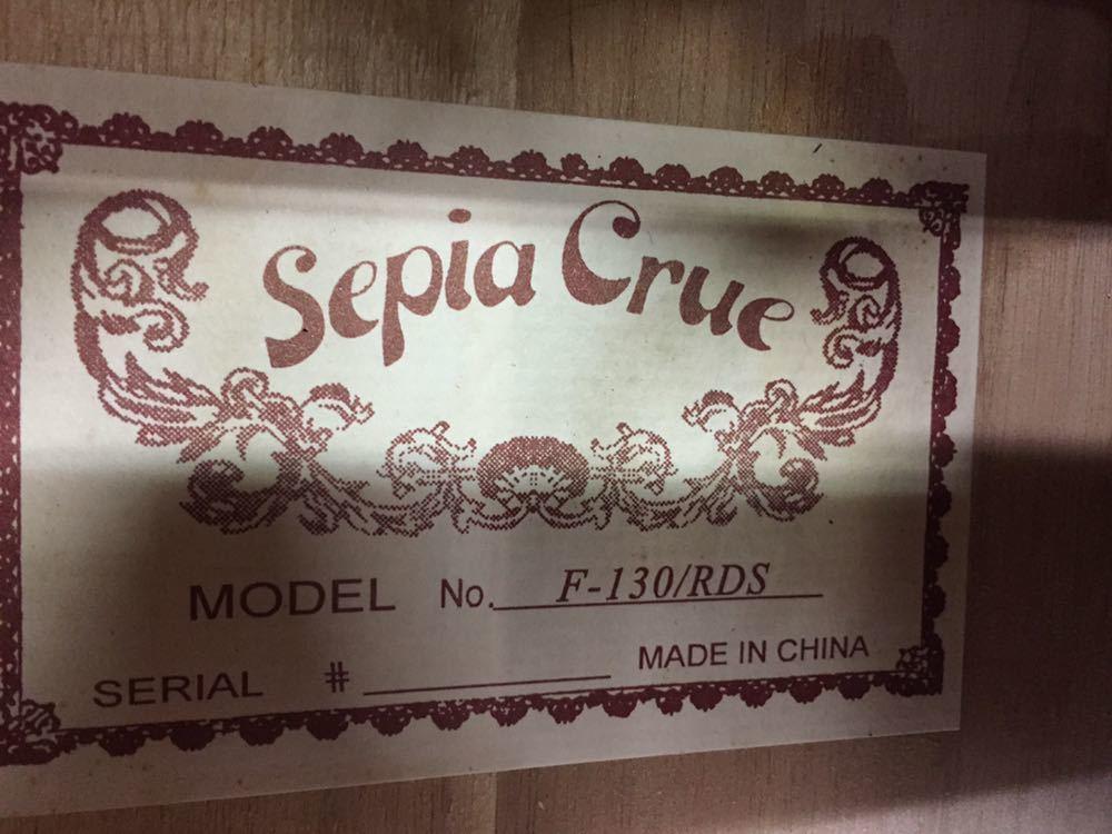 ◯ 美品 アコースティックギター Sepia Crue セピアクルー F-130/RDS ケース付き_画像2