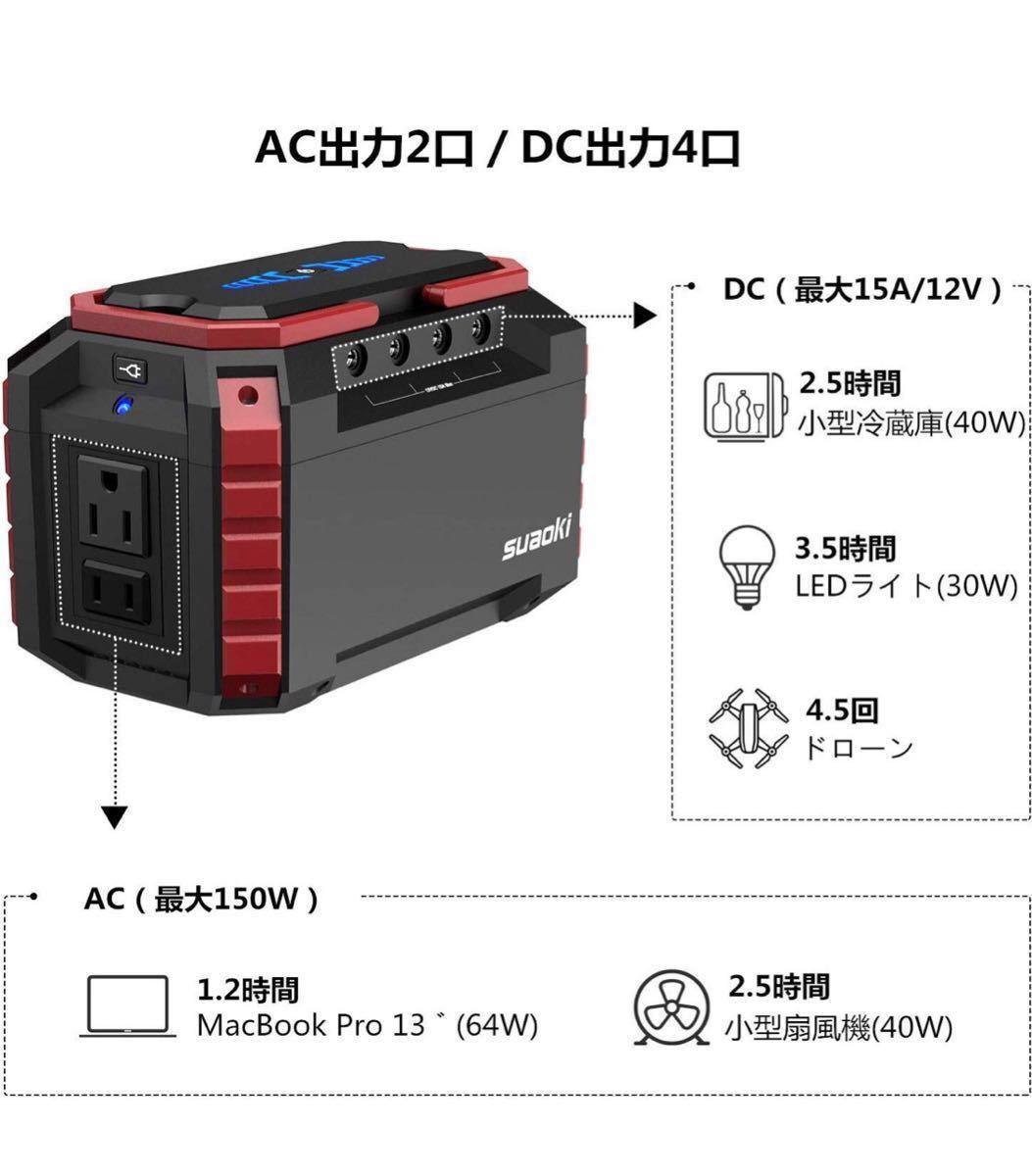 ♪ 新品未開封 suaoki ポータブル電源 S270 150W 家庭用蓄電池 USB出力 急速充電QC3.0 キャンプ 釣り アウトドア 防災グッズ 非常用電源 _画像2