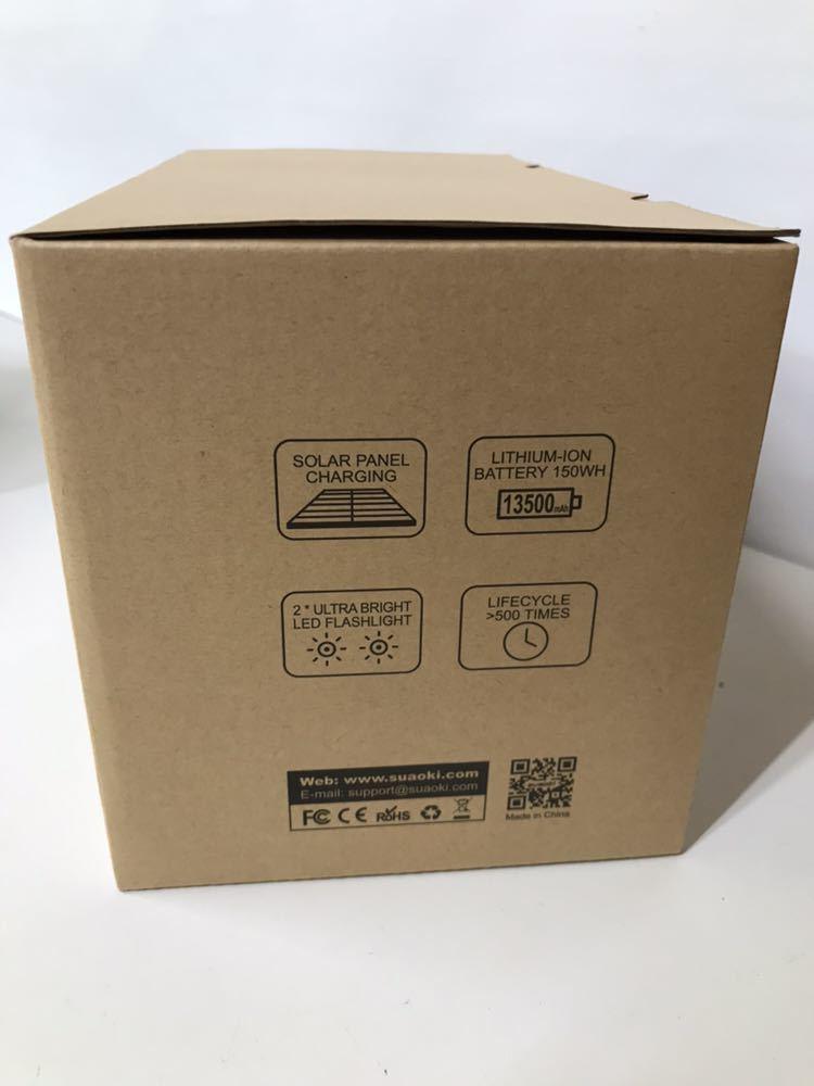 ♪ 新品未開封 suaoki ポータブル電源 S270 150W 家庭用蓄電池 USB出力 急速充電QC3.0 キャンプ 釣り アウトドア 防災グッズ 非常用電源 _画像8