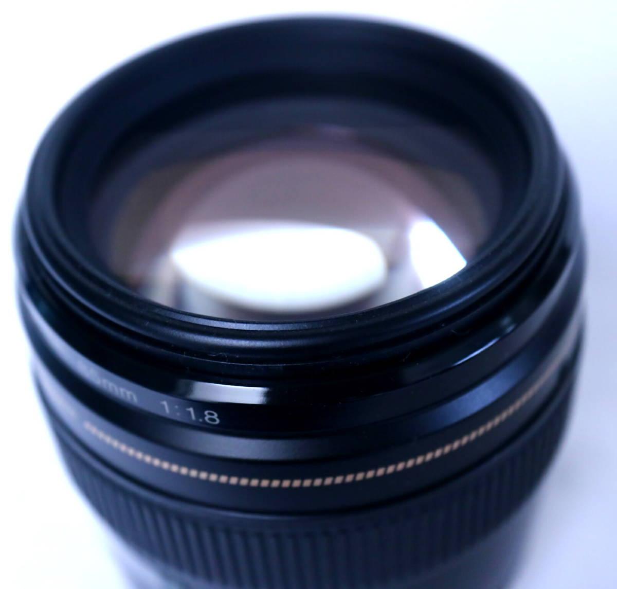 Canon EF85mm f1.8 USM 【極美品】ワンオーナー品 フルサイズ対応 高性能単焦点レンズ キヤノン_画像6