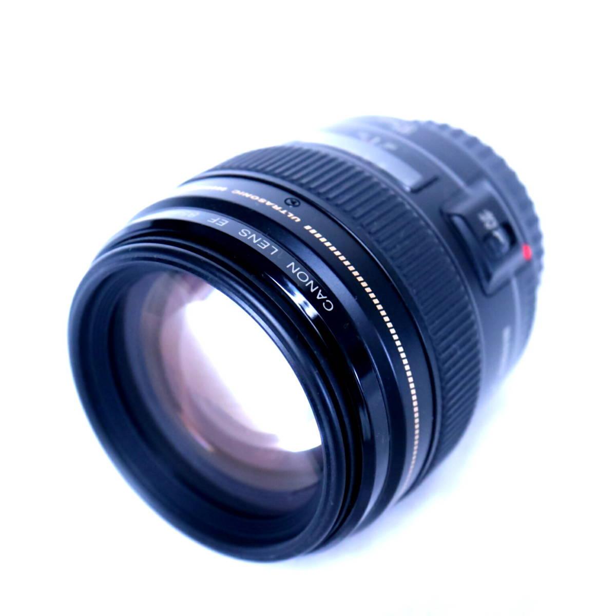 Canon EF85mm f1.8 USM 【極美品】ワンオーナー品 フルサイズ対応 高性能単焦点レンズ キヤノン_画像3
