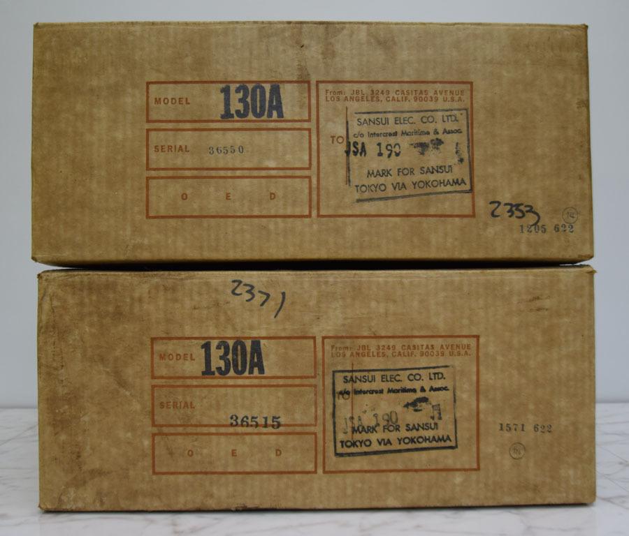 《グッジョブ》◇JBL 130A スピーカー 8Ω ペア 38㎝ 中古 美品 箱付き_画像10