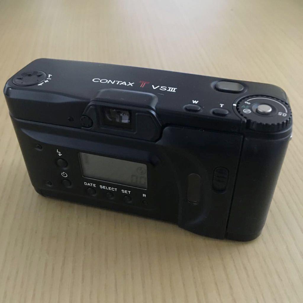 Contax TVS Ⅲ ブラック(Carl Zeiss Vario Sonnar 30-60mm f3.7-6.7) T vs 3 動作写りOK 概ねキレイ ストラップ2種 革ケース 説明書 内外箱_画像6
