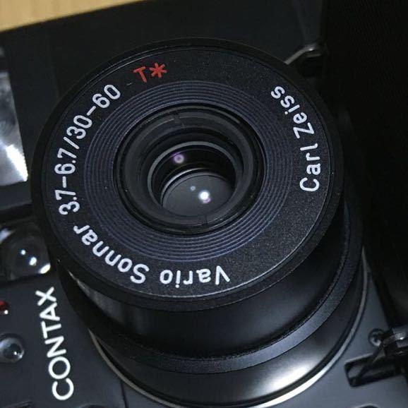 Contax TVS Ⅲ ブラック(Carl Zeiss Vario Sonnar 30-60mm f3.7-6.7) T vs 3 動作写りOK 概ねキレイ ストラップ2種 革ケース 説明書 内外箱_画像10