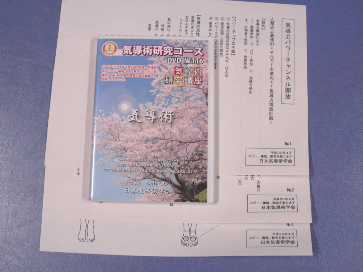 ★気導術研究コース 第116回 DVD2枚★ セミナー資料付! 送料無料!!