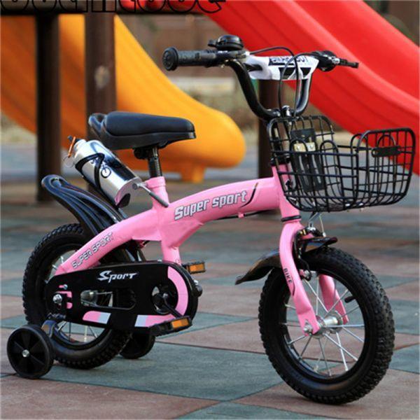 補助輪付き自転車子供 カゴ付き 組み立て式 12-18インチ サイズ選択可 jup84
