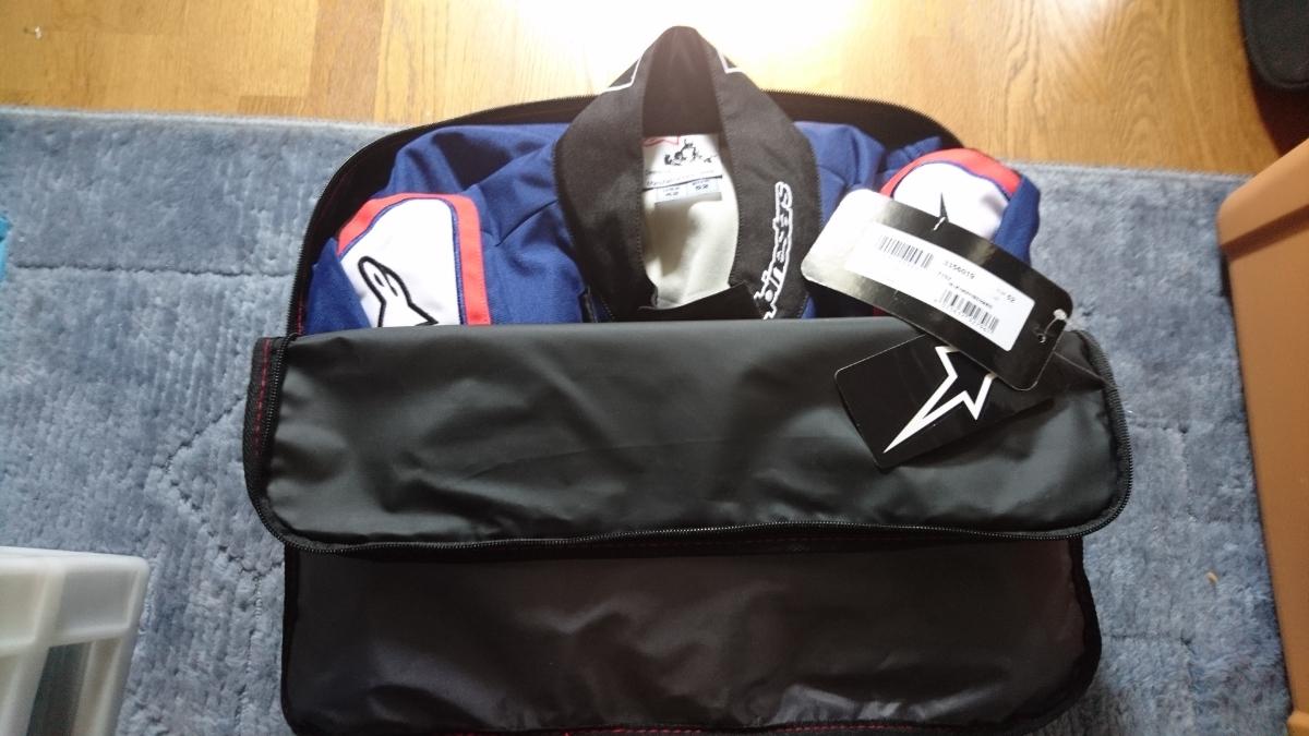 アルパインスターズ KMX-9v2 SUIT サイズ52 2019モデル 新品 ブルー ネイビー レットホワイト レーシングスーツ カートスーツ_画像8