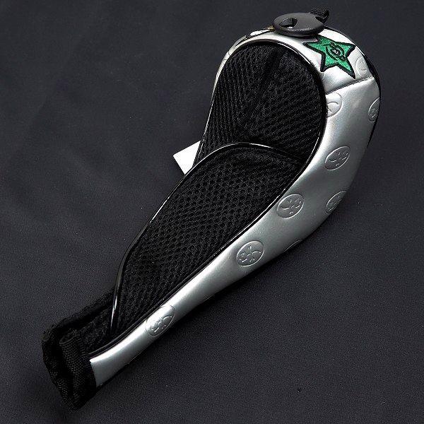 新品 CASTELBAJAC カステルバジャック ゴルフ ヘッドカバー セット フェアウェイウッド ユーティリティ フリーサイズ シルバー B986_画像3