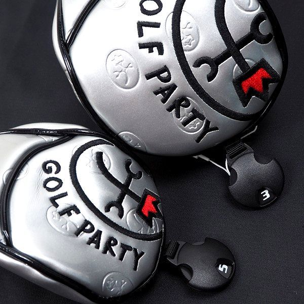 新品 CASTELBAJAC カステルバジャック ゴルフ ヘッドカバー セット フェアウェイウッド ユーティリティ フリーサイズ シルバー B986_画像5
