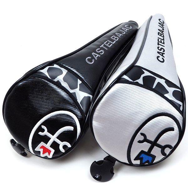 新品 CASTELBAJAC カステルバジャック ゴルフ ヘッドカバー セット フェアウェイウッド用 フリーサイズ ブラック/シルバー B986_画像4