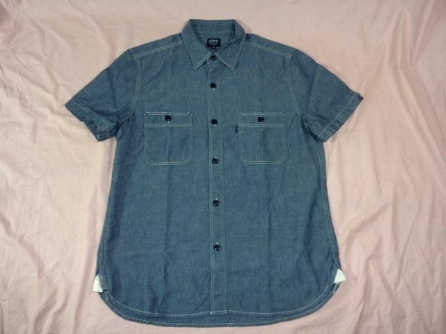 エドウィン/EDWIN シャンブレー・ワークシャツ M