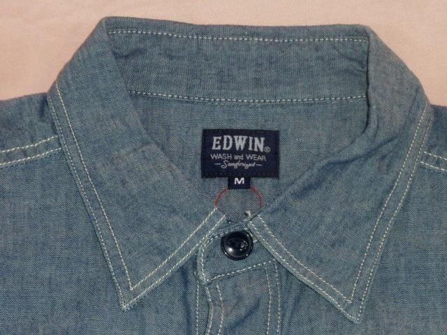 エドウィン/EDWIN シャンブレー・ワークシャツ M_画像3
