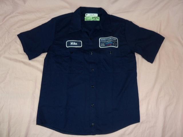 レッドキャップ/RED KAP クライスラー 半袖ワークシャツ 紺 XL