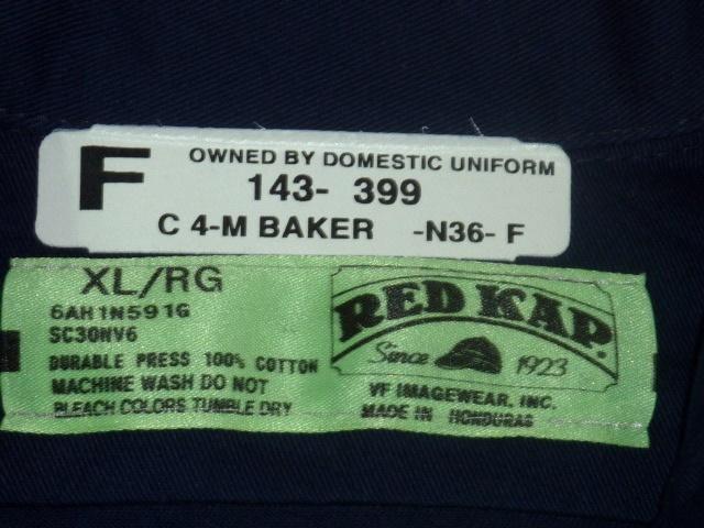 レッドキャップ/RED KAP クライスラー 半袖ワークシャツ 紺 XL_画像3