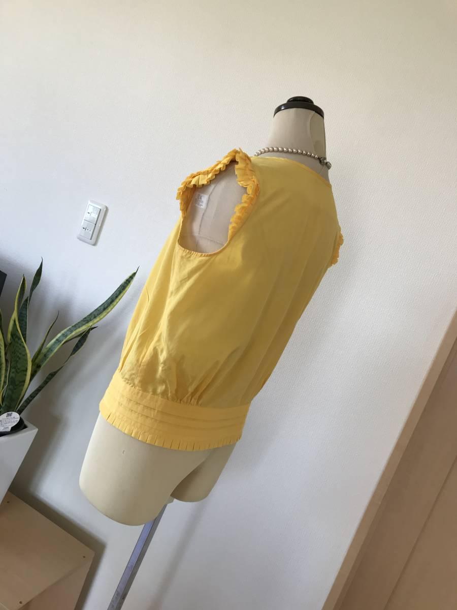 【高級モガ、90%オフ】(株)ビギ、高級ブランド、シルクコットン上質素材、着映えするきれい色♪ブラウス、シャツ、リッチカジュアルにも_画像3