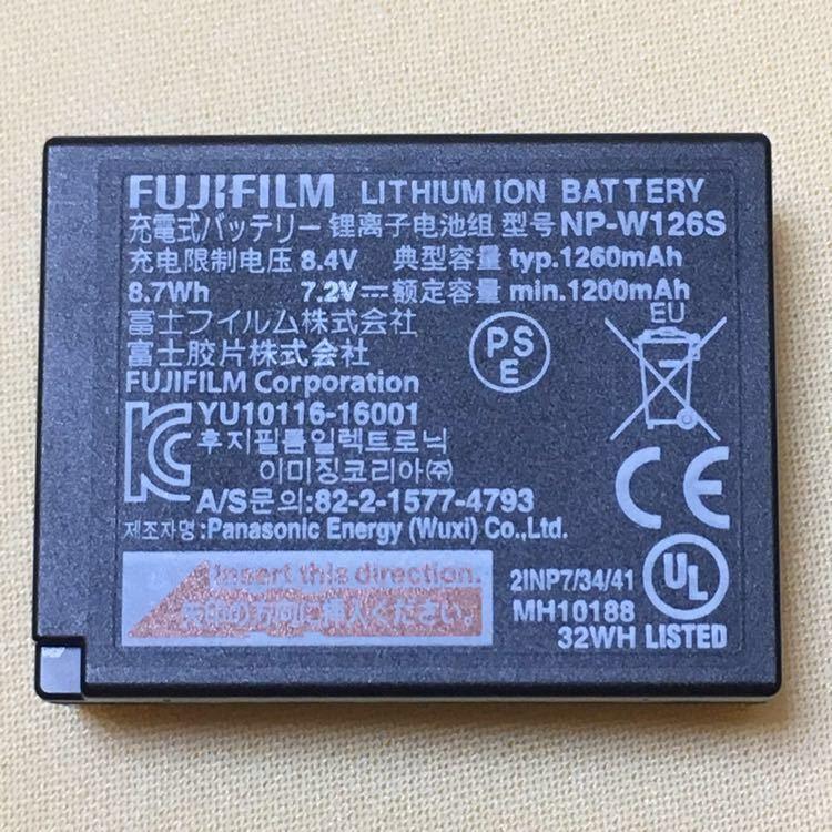 【純正品・美品・送料無料】FUJIFILM 充電式バッテリー NP-W126S★X-T3 ・X-T2 ・ X-T1 ・X-T30・X-T20・X-T10・X-T100・X-A5・X-A3等