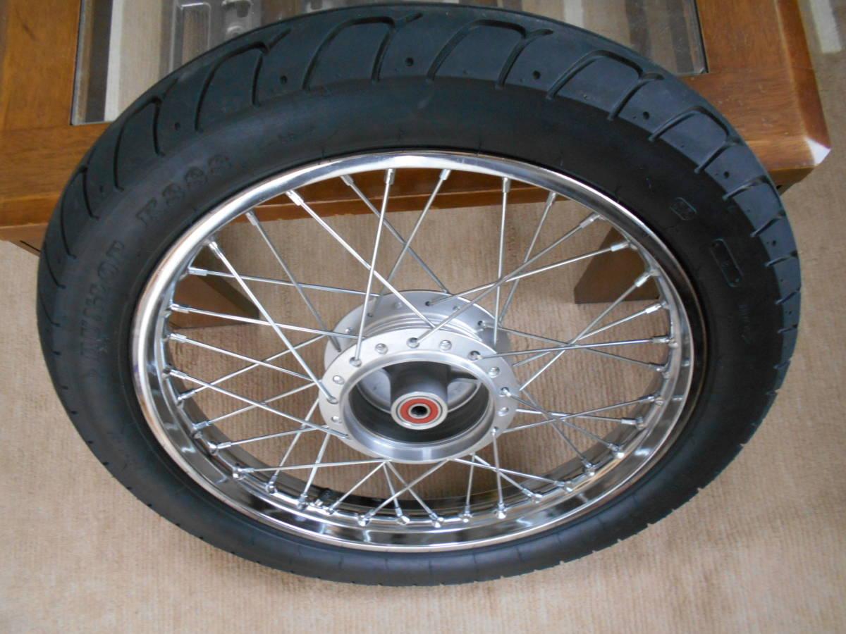 スーパーカブ110 JA10 リアホイール DUNLOP K888 3.00-17 4PR (45P) WTタイヤ。純正より太く、外径が大きい。 _画像2
