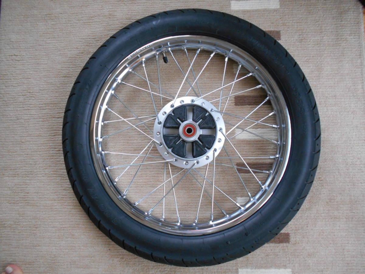 スーパーカブ110 JA10 リアホイール DUNLOP K888 3.00-17 4PR (45P) WTタイヤ。純正より太く、外径が大きい。 _画像4