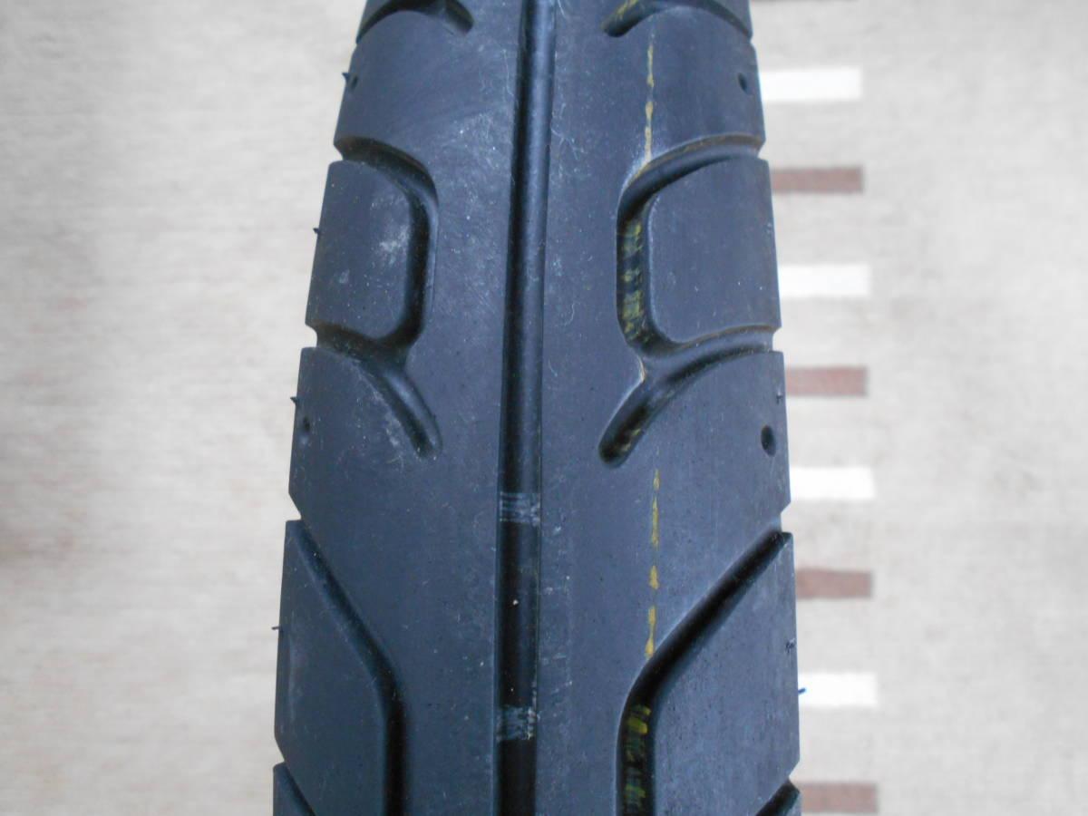 スーパーカブ110 JA10 リアホイール DUNLOP K888 3.00-17 4PR (45P) WTタイヤ。純正より太く、外径が大きい。 _画像7