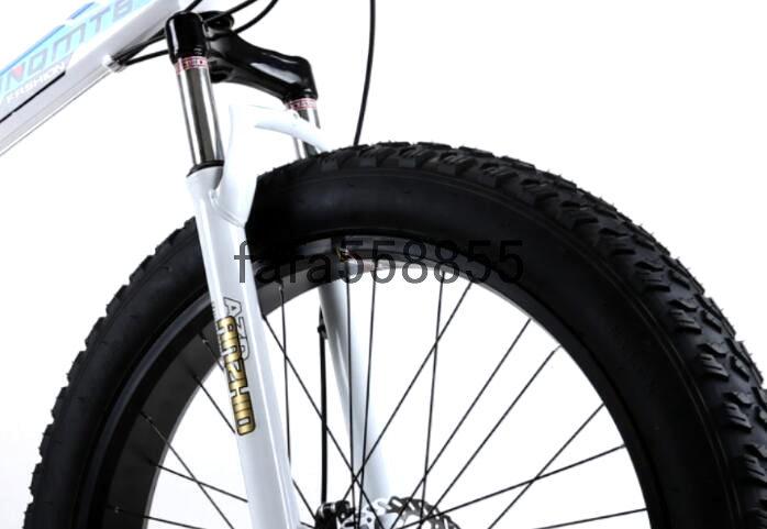 新品 折りたたみ 26インチ 21段変速 自転車 前後ディスクブレーキ マウンテンバイク ファットバイク ビーチ アシスト ロード クロス バイク_画像5