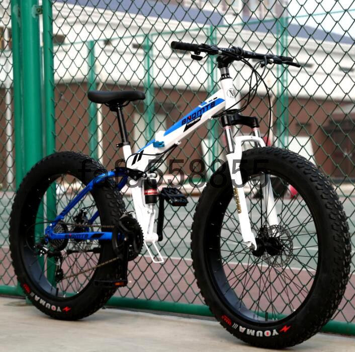 新品 折りたたみ 26インチ 21段変速 自転車 前後ディスクブレーキ マウンテンバイク ファットバイク ビーチ アシスト ロード クロス バイク