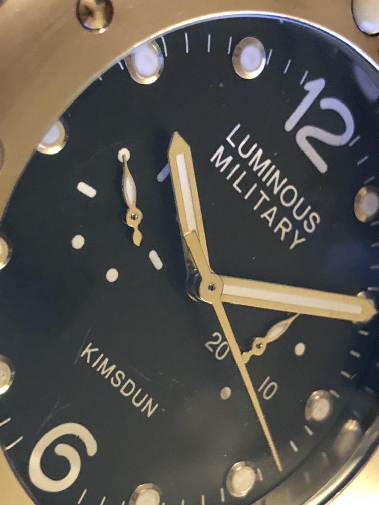 LUMINOUS MILITARY自動巻時計 パネライオマージュモデル美品クラス_画像2