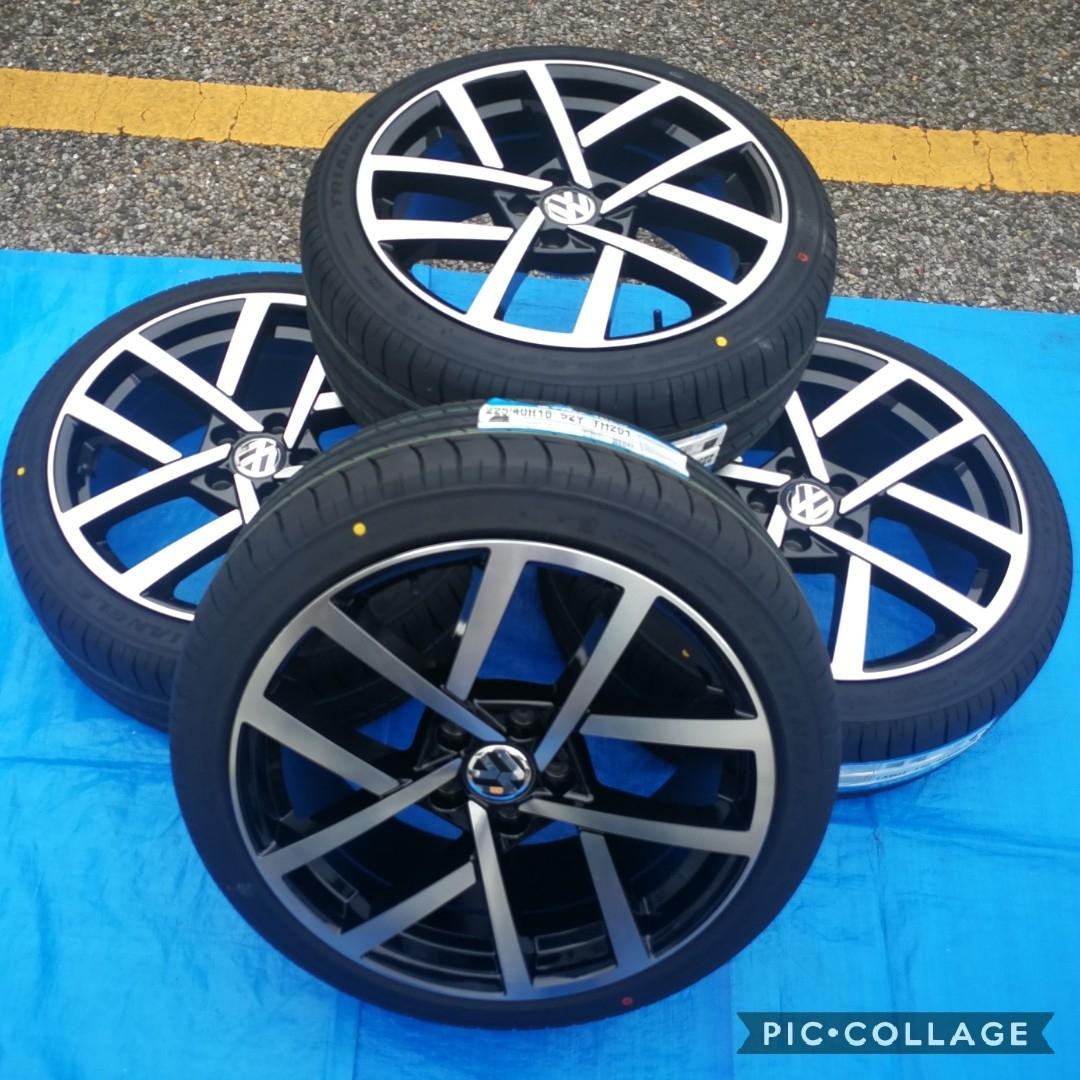 VW ワーゲン ゴルフ5 ゴルフ6 ゴルフ7 BK966 18インチ 新品4本タイヤ付き!▼225/40R18 225/40R18 _画像9