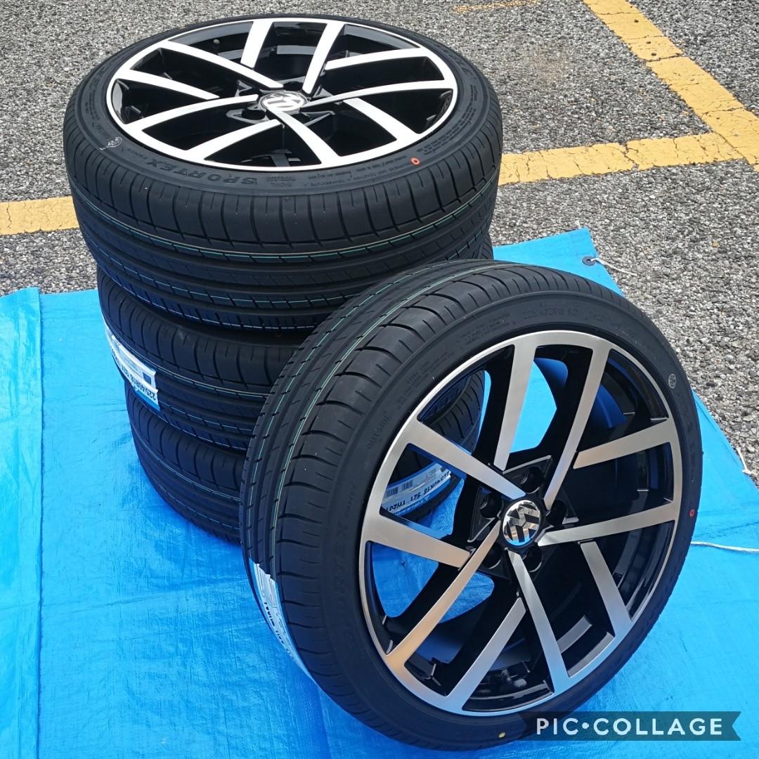 VW ワーゲン ゴルフ5 ゴルフ6 ゴルフ7 BK966 18インチ 新品4本タイヤ付き!▼225/40R18 225/40R18 _画像1