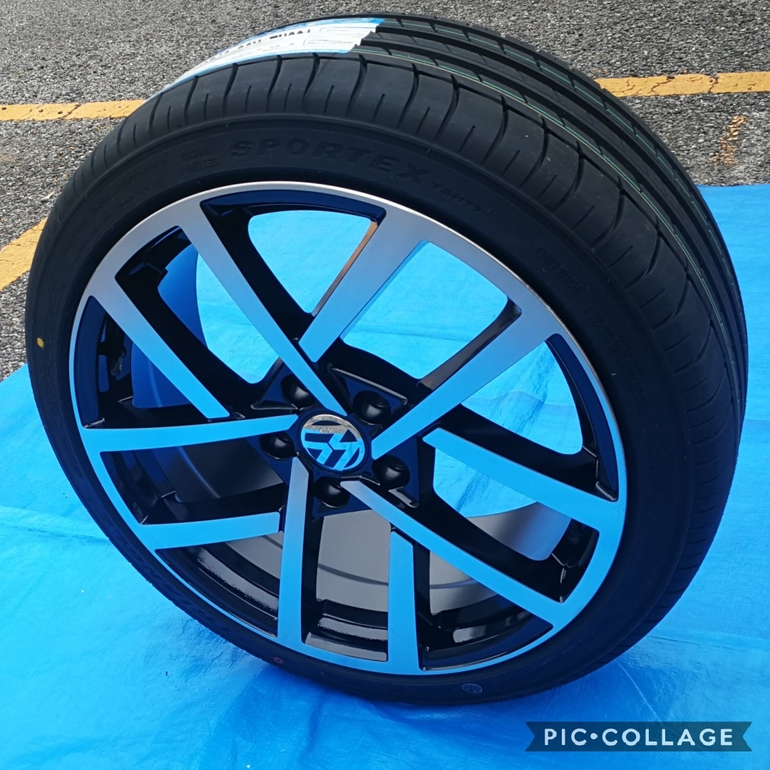VW ワーゲン ゴルフ5 ゴルフ6 ゴルフ7 BK966 18インチ 新品4本タイヤ付き!▼225/40R18 225/40R18 _画像10