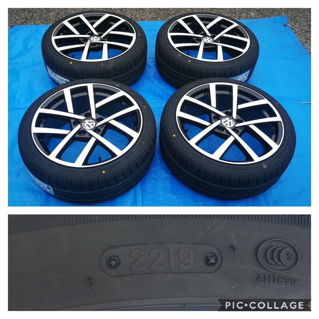 VW ワーゲン ゴルフ5 ゴルフ6 ゴルフ7 BK966 18インチ 新品4本タイヤ付き!▼225/40R18 225/40R18 _画像3