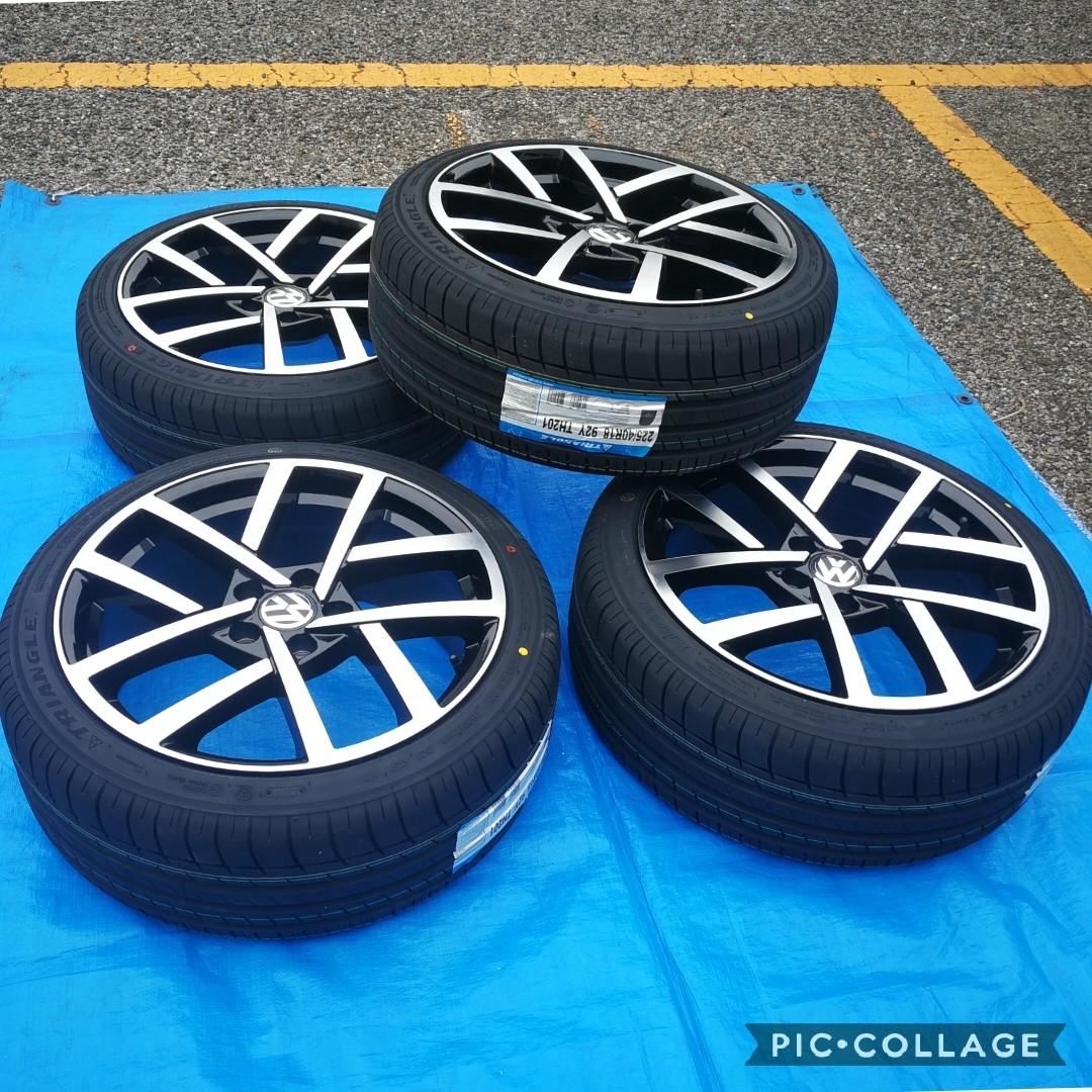 VW ワーゲン ゴルフ5 ゴルフ6 ゴルフ7 BK966 18インチ 新品4本タイヤ付き!▼225/40R18 225/40R18 _画像4
