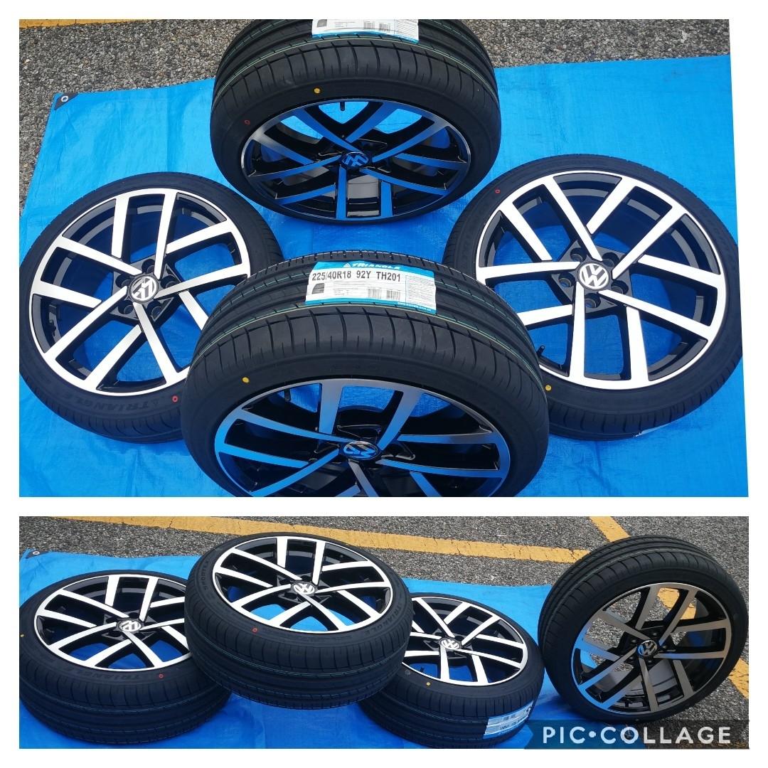 VW ワーゲン ゴルフ5 ゴルフ6 ゴルフ7 BK966 18インチ 新品4本タイヤ付き!▼225/40R18 225/40R18 _画像7