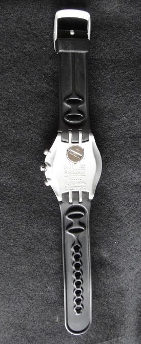 スオッチ 腕時計 ★ Swatch IRONY ALUMINIUM ◆ WATER-RESIST 200m SWISS MADE V8 【中古品】_画像9