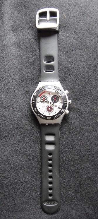 スオッチ 腕時計 ★ Swatch IRONY ALUMINIUM ◆ WATER-RESIST 200m SWISS MADE V8 【中古品】_画像8