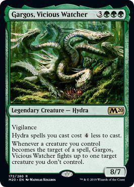え緑 凶暴な見張り、ガーゴス 1枚(4枚在庫s 英 良品 M20)/Gargos, Vicious Watcher(MTG /基本セット2020/Core Set 2020/)_画像1