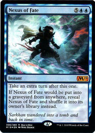 え青Foil 運命のきずな 1枚(4枚在庫 英 良品 M19)/Nexus of Fate(MTG /基本セット2019/Core Set 2019/BOX特典限定カード)