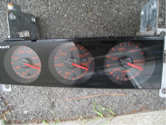 売り切り! DEFI デフィ ■ din ゲージ gauge 追加メーター ■シルビア スカイライン RX-7 エボ インプ JZX100 S15 S14 R34 R32 180sx_画像2