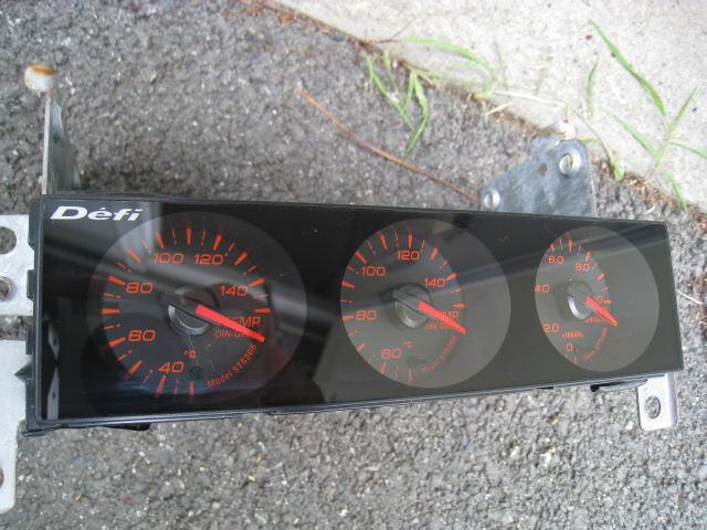 売り切り! DEFI デフィ ■ din ゲージ gauge 追加メーター ■シルビア スカイライン RX-7 エボ インプ JZX100 S15 S14 R34 R32 180sx_画像3