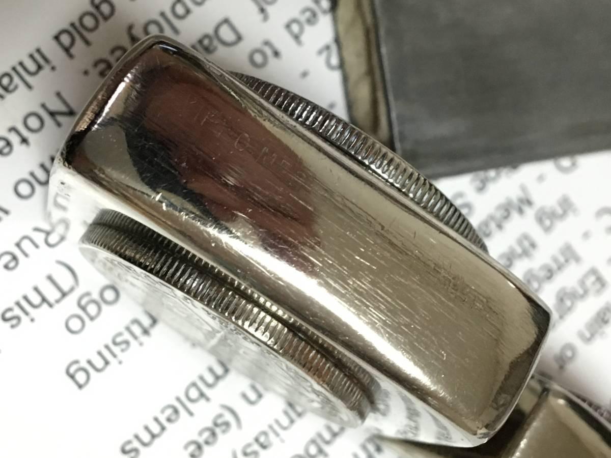 1942Y Zippo 4 barrel クロームフィニッシュ ジッポ ワールド Sterling無垢コイン 超希少品 フルオリジナル_画像10