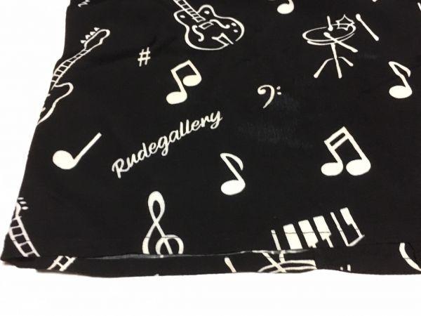 RUDE GALLERY 19S/S 「ONPU SHIRT」 ブラック サイズ2 レーヨン100% アロハシャツ 開襟 ルードギャラリー_画像6